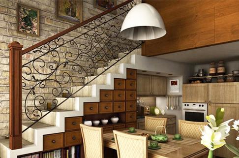 开启创新复式楼梯多余空间该如何合理利用